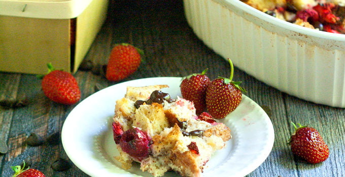 Chocolate Berry Bread Pudding