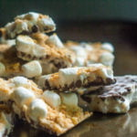 This s'mores yogurt bark recipe couldn't be easier and is perfect as a summer treat. Don't wait for the campfire, use your freezer!