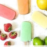 4 flavored low carb jello pops with fruit and text overlay