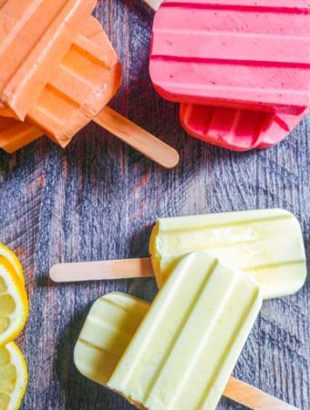 These low carb jello pops are a delicious and easy treat for summer. Only 2 ingredients and 1.1 carbs for these creamsicle pops.