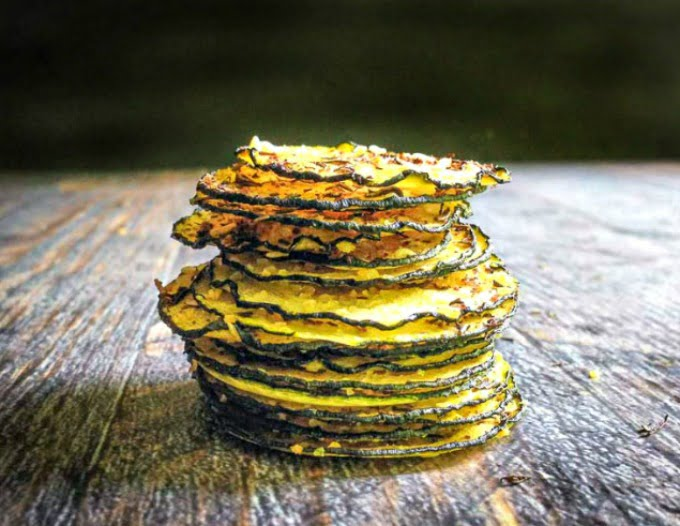 These za'atar zucchini chips are a delicious and healthy snack to use some of those plentiful zucchini from your garden. Only 0 or 1 WW points.