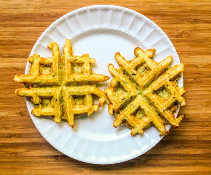 Savory Zucchini Almond Waffles