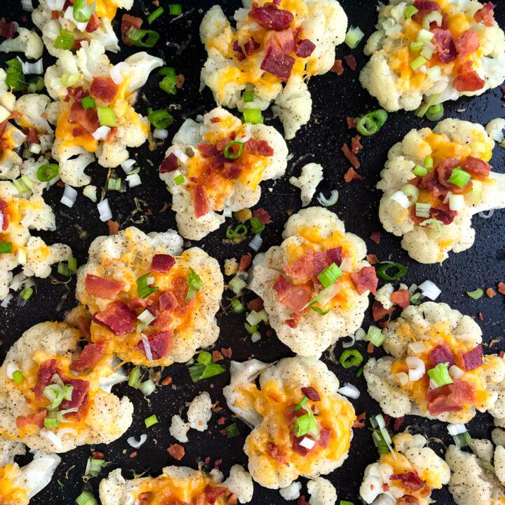 Loaded Smashed Cauliflower Bites