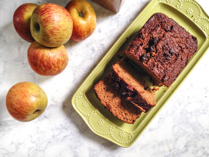 This cinnamon apple breakfast bread is moist, sweet and full of flavor. No one would know it was gluten free.