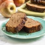 This cinnamon apple breakfast bread is moist, sweet and full flavor. No one would know it was gluten free.