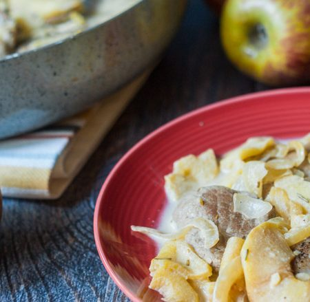 This creamy pork & apples skillet dinner is a delicious combination of flavors your family is sure to love.