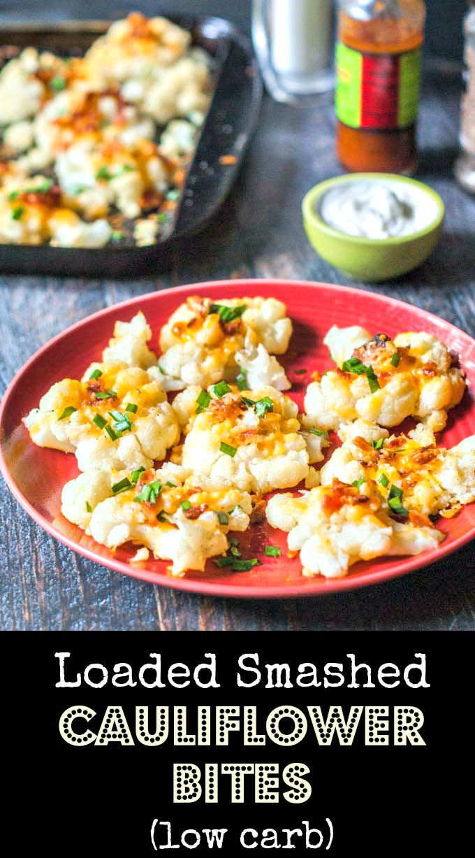 These loaded smashed cauliflower bites are a nice alternative to smashed potatoes. Add all your favorite toppings for a fun snack or side dish.