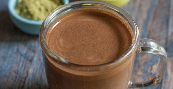 Mexican Chocolate Matcha Drink (low carb)
