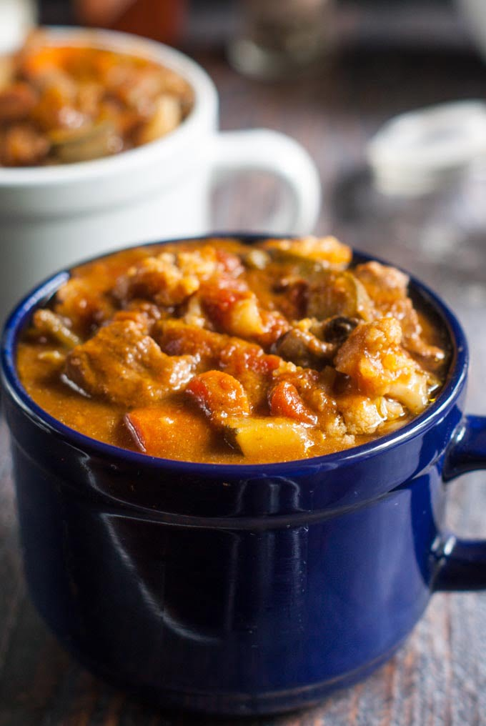 This nourishing beef stew is full of health boosting ingredients. It's easy in the Instant Pot or slow cooker to make this tasty, hearty, Paleo stew.