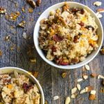 This cranberry orange breakfast quinoa is a tasty, gluten free idea for breakfast. Only 7 minutes for an easy, healthy, tasty breakfast.