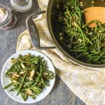 This easy Asian green beans almondine dish is a tasty, low carb side dish that you can whip up in less than 15 minutes.