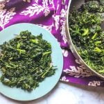 This easy sesame greens side dish will literally take only minutes to make. An easy, healthy and tasty way to eat your greens.