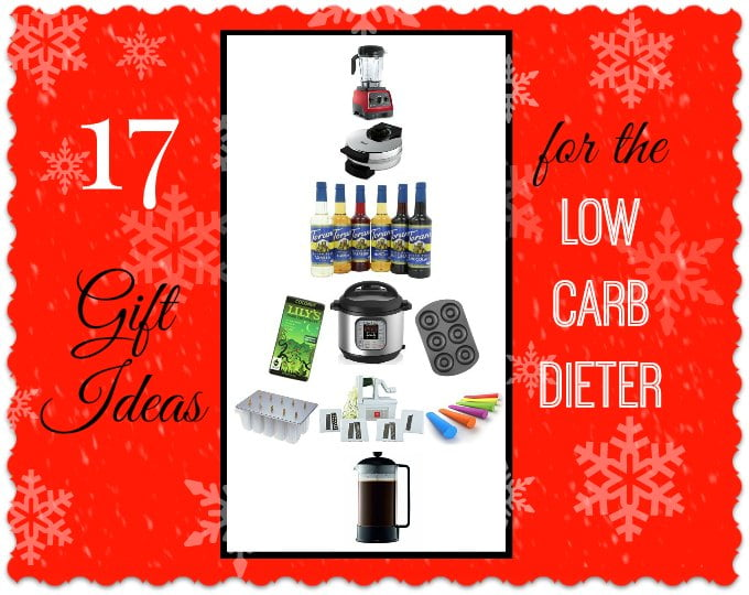 These gift ideas for the low carb dieter are for anyone who likes to watch what they eat or likes healthy cooking. Cooking gadgets & healthy low carb foods!
