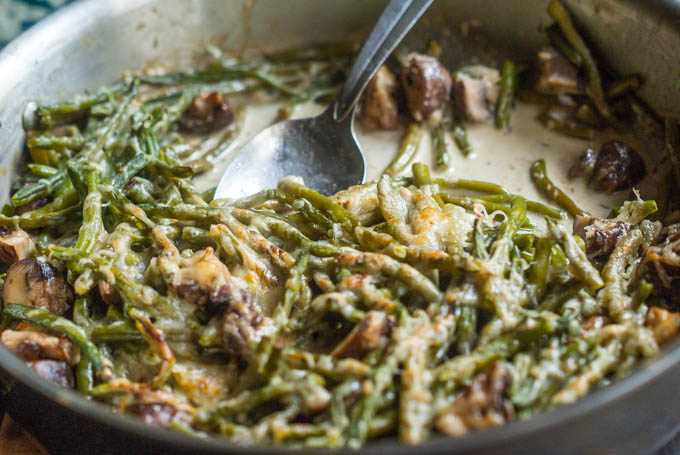 This low carb green bean casserole is a delicious holiday dish with few carbs. Easy to make and only 2.9g net carbs!