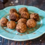 These low carb chocolate coconut protein bites take only minutes to make and are great to have on hand for a healthy, sweet treat. Each bite is only 0.5g net carbs.