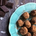 These low carb chocolate coconut protein bites take only minutes to make and are great to have on hand for a healthy, sweet treat.