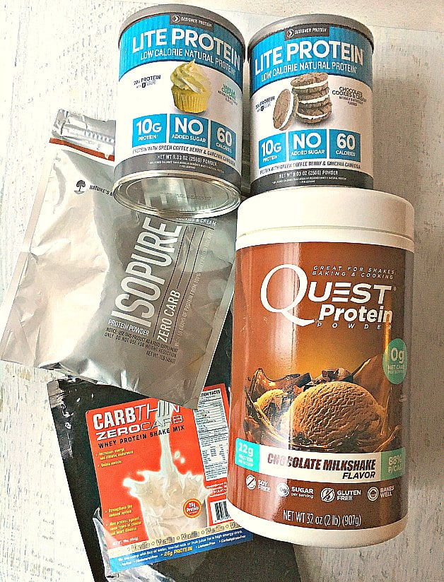 5 different low carb protein powders