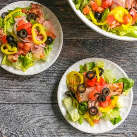 This easy Italian sub salad is so good you won't miss the bun! It only takes a few minutes to make this tasty, filling dish that's fairly low carb too!