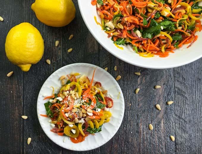 Lemony Feta & Carrot Salad