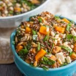 This easy quinoa & butternut squash salad is a beautiful and delicious recipe that's packed with nutrition. Eat for lunch or as a side dish or take along to your next party!