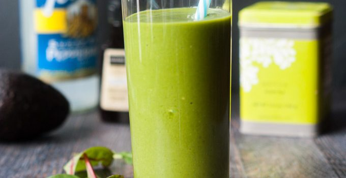 Vanilla Mint Matcha Smoothie (low carb)