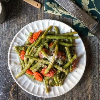 These easy Italian green beans are great with almost any main dish. Using simple ingredients to create big flavors!