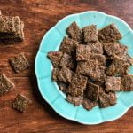 These low carb gyro meat crackers are super easy to make and a delicious snack. Only 0.9g net carbs for 10 small crackers. Great on salads too!