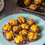 These low carb sausage stuffed mushrooms are easy to prepare and a delicious appetizer. Perfect to take or serve at a party.