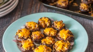 Low Carb Sausage Stuffed Mushrooms