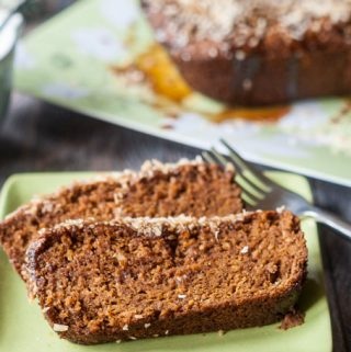 This Paleo coconut caramel quick bread is a tasty recipe you can eat any time of the day. Gluten free and full of flavor!