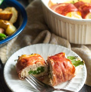 These prosciutto wrapped chicken bundles are a quick and easy, low carb dinner everyone will love. Only 3.7g net carbs!