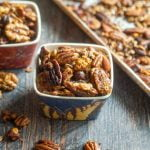 These slow cooker Thai curry nuts make a great low carb snack. Only a few ingredients needed to make these spicy, flavorful nuts.