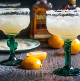 Simple Meyer Lemon Margaritas #SundaySupper