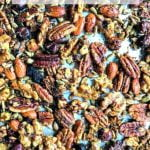 pan of Thai curry low carb nuts with text overlay