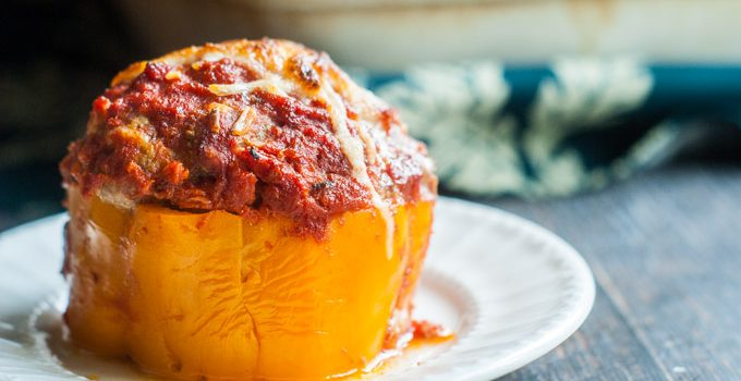 Cheesy Meatball Stuffed Peppers