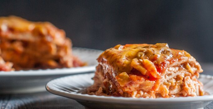 Chicken Burrito Lasagna (Instant Pot)