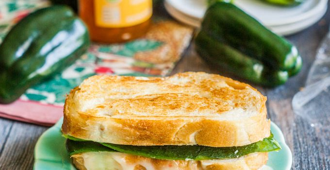 Apricot Poblano Grilled Cheese Sandwich #SundaySupper