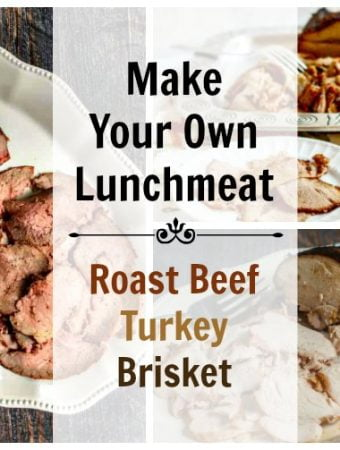 Did you ever try to make your own lunchmeat? It's very easy to do and healthy for you and your family. But the best reason of all is that it is delicious!