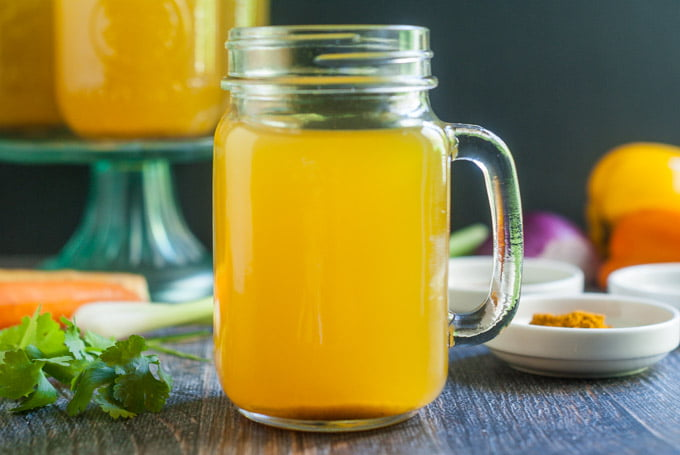This Instant Pot vegetable sipping broth is healthy and tasty to sip through out the day when you are dieting or if you are feeling under the weather. Can also be used for cooking or as a base for soups.