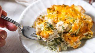 Low Carb Chicken Broccoli Casserole with Cauliflower Cream