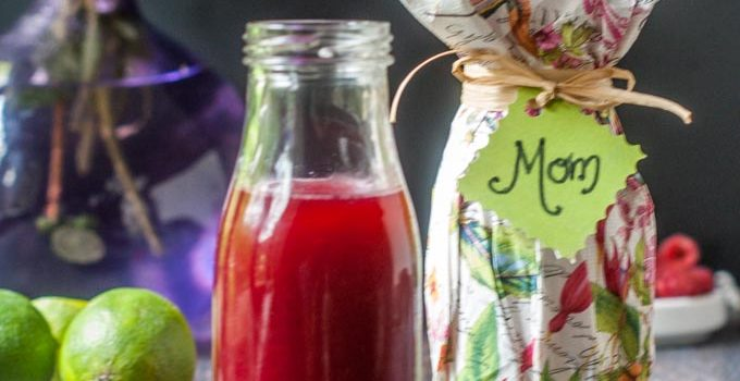 Mother's Day Raspberry Lime Shrub Drink