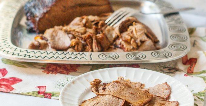 This delicious smoked barbecue brisket is full of flavor. The barbecue rub is easy to make and complements the smokey flavor of the slow cooking in the smoker. Makes a great barbecue brisket sandwich the next day!