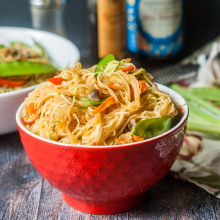 Try making Lo Mein using vegetable noodles for a deliciously healthy dinner. Only takes minutes to make this vegetarian dinner!