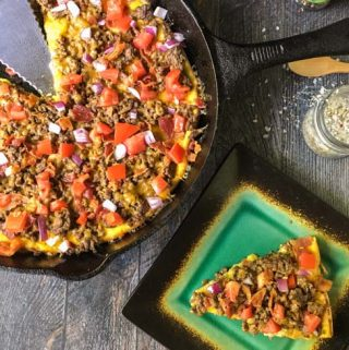 This low carb bacon cheeseburger frittata is a fun way to eat your burger without the bun! But the flavor is all there and it's only 1.3g net carbs per slice.