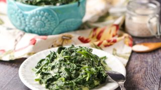Slow Cooker Keto Creamed Spinach - using only 3 ingredients!