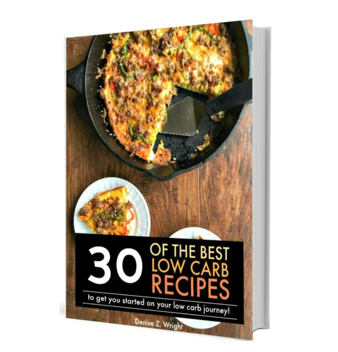 Check out this 30 of the best low carb recipes ebook that will help you get started on your low carb journey!