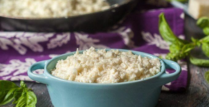 Easy Asiago Cauliflower Rice (low carb)