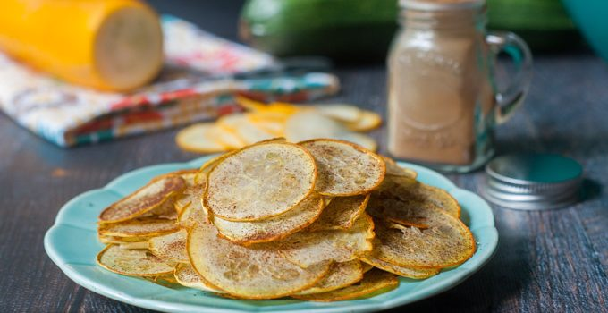 Low Carb Cinnamon Zucchini Chips