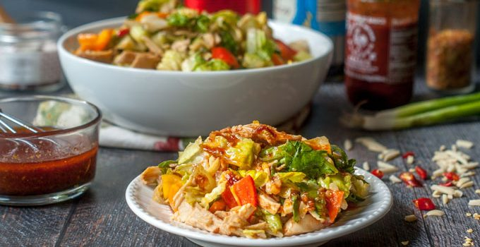 Kung Pao Chicken Salad (low carb)