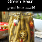 jar with pickled green beans and text